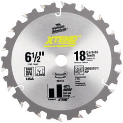 XTEND™ Cordless Series Carbide Tipped Circular Saw Blades
