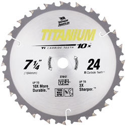 Titanium 10X® Series Carbide Tipped Circular Saw Blades