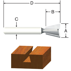 Carbide Tipped Silver Series Dovetail Bits